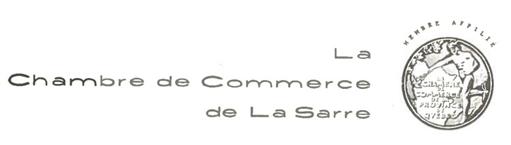 Logo Chambre de commerce de La Sarre 1953